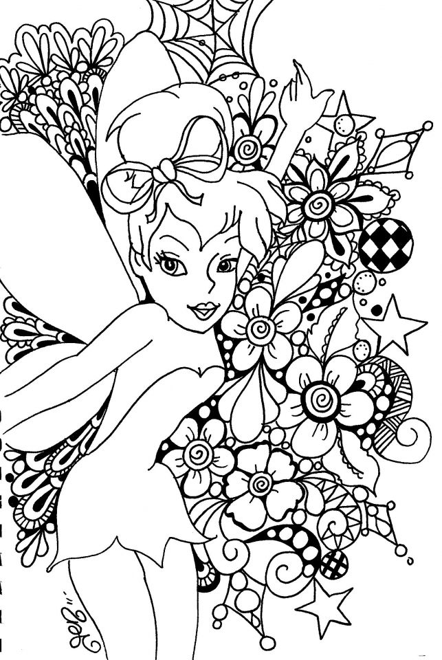 Get This Tinker Bell Coloring Pages Printable For Girls