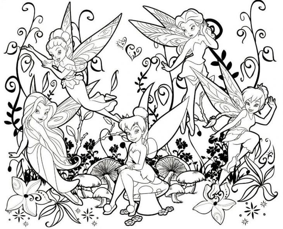 Get This Tinkerbell Fairy Coloring Pages To Print Out