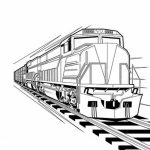 Train Coloring Pages for Kindergarten   41778