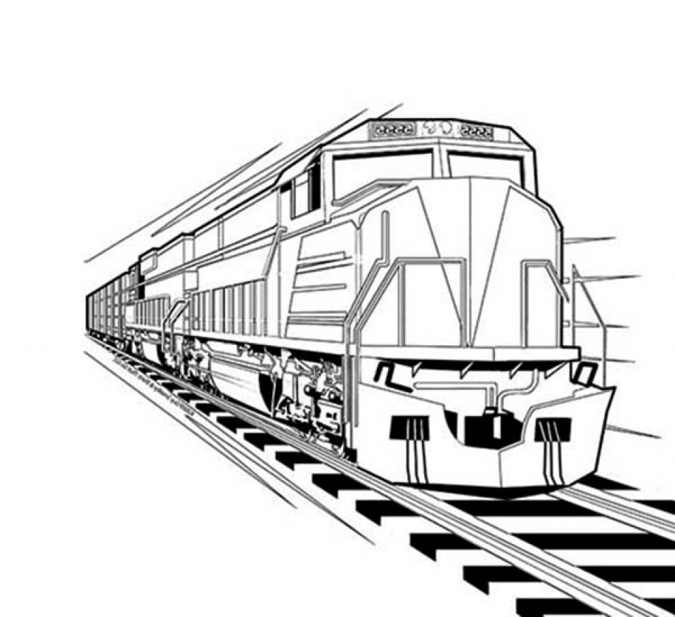 Get this train coloring pages for kindergarten 41778 for Coloring page of a train