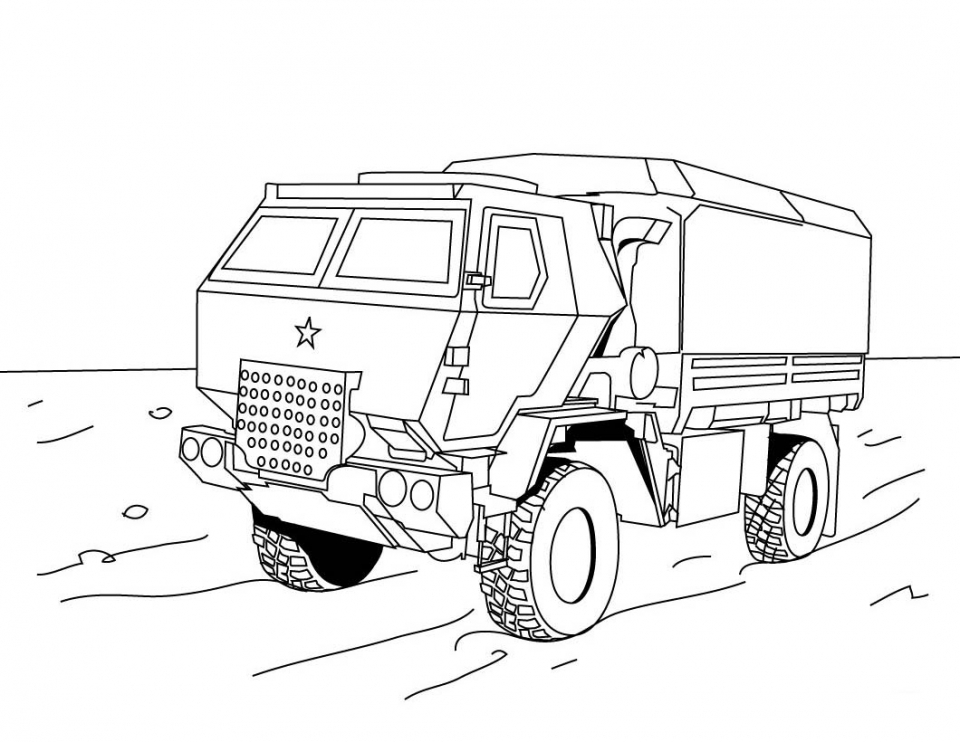 Truck Coloring Pages for Kids   64371