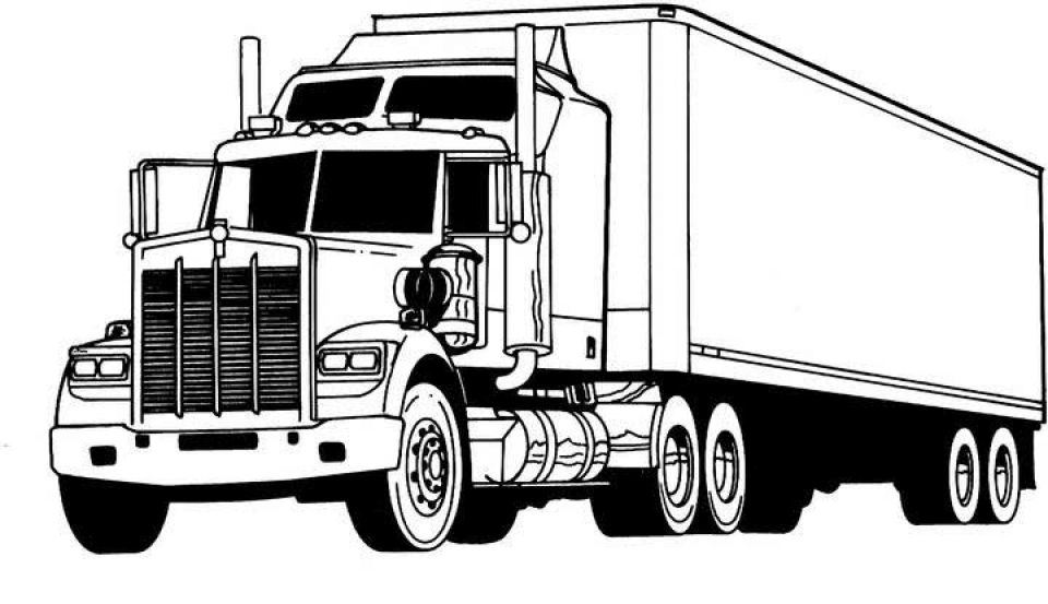 Truck Coloring Pages Kids Printable   31728