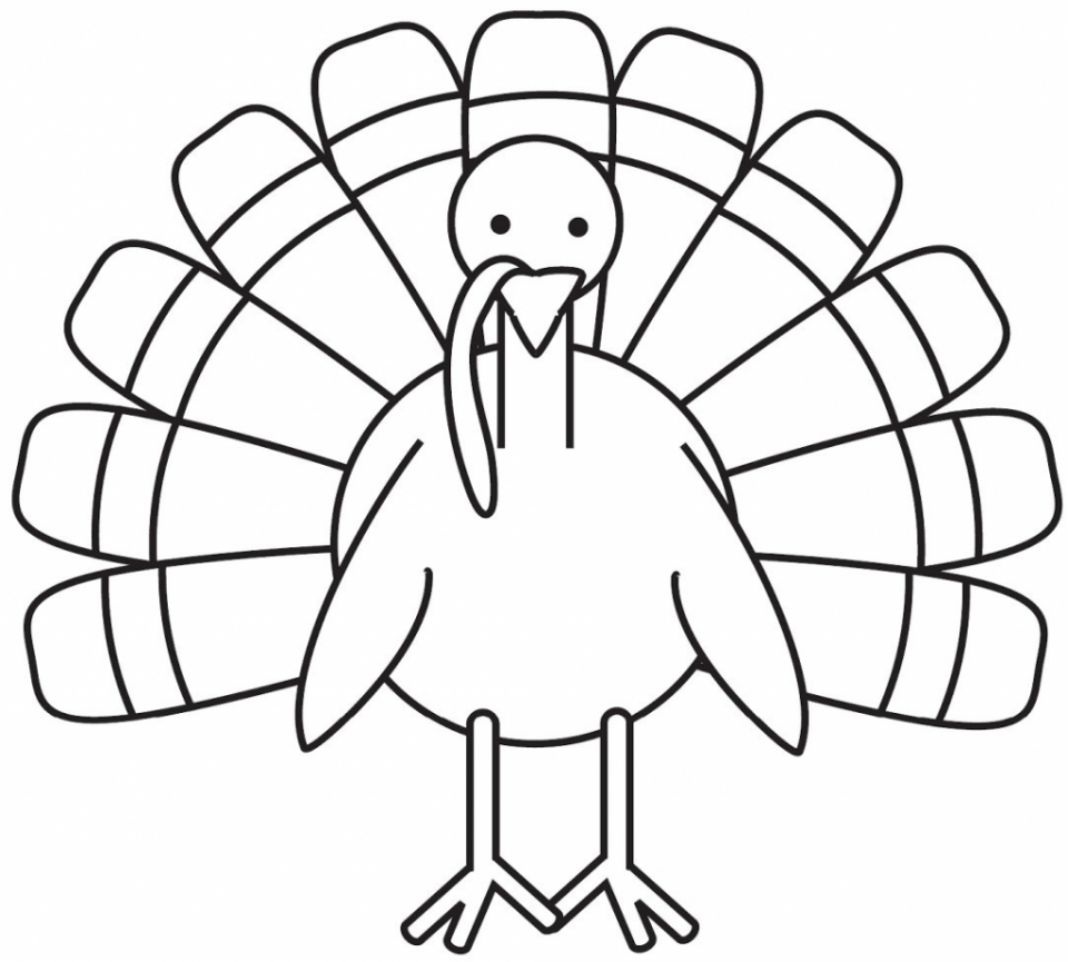 Get This Turkey Coloring Pages for Preschoolers