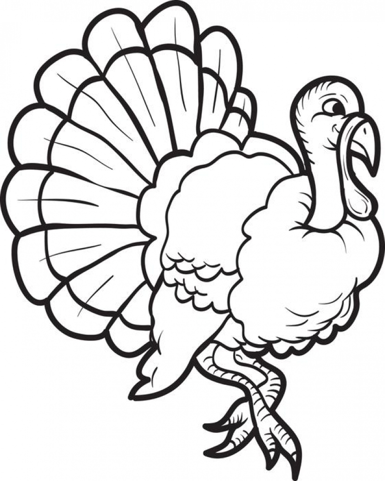 thanksgiving coloring pages to print for free - get this turkey coloring pages kids printable 85612