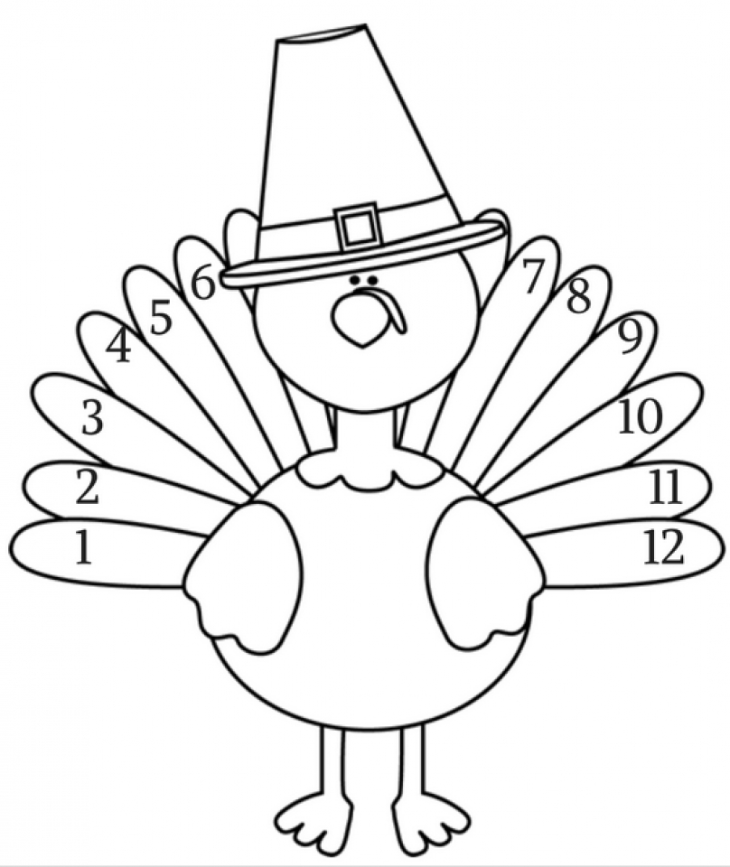 Turkey Coloring Pages to Print Out   06720