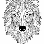 Wolf Coloring Pages for Adults   37182
