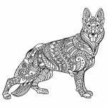 Wolf Coloring Pages for Adults   86711