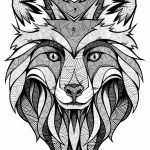 Wolf Coloring Pages for Adults Free Printable   31756