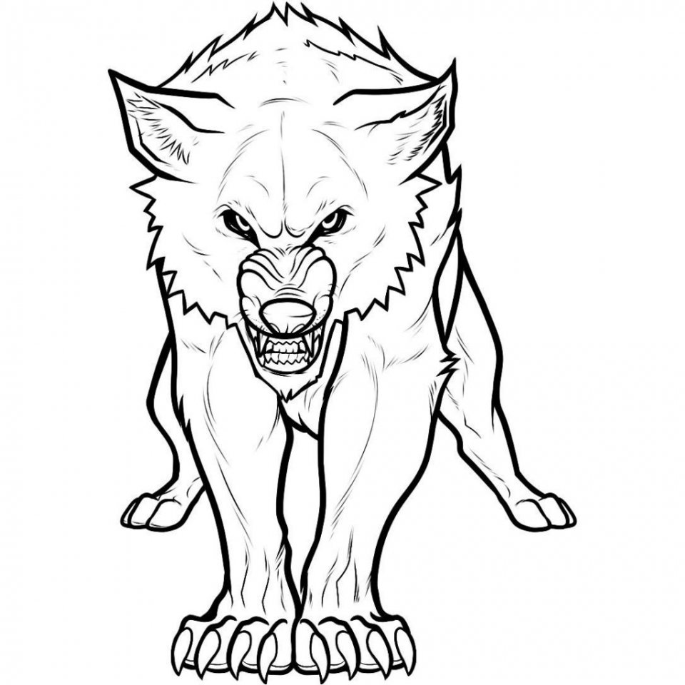 Wolf Coloring Pages Free Printable   85631