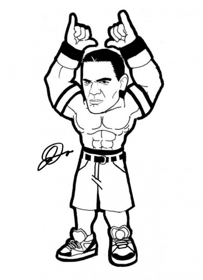 Get This WWE Coloring Pages Free Printable 64837