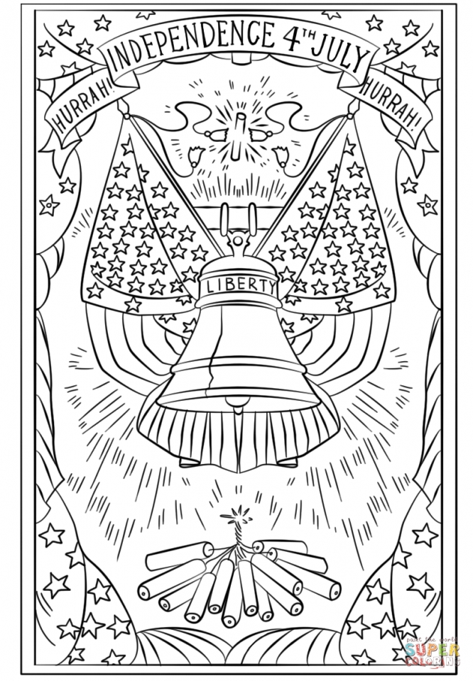 4th of July Coloring Pages for Adults   uv5bx