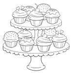 Birthday Cupcake Coloring Pages for Kids - 7gb41