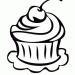 Cupcake Coloring Pages for Kids - 9vb51