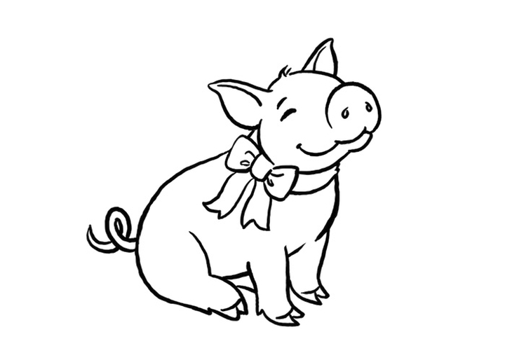 Cute Pig Coloring Pages - i57cm