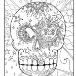 Day of the Dead Coloring Pages - Hard Coloring for Adults - 63fc1