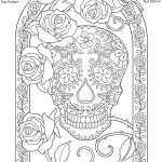 Day of the Dead Coloring Pages - Hard Coloring for Adults - 74613