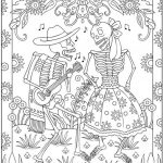 Day of the Dead Coloring Pages - Hard Coloring for Adults - txc21