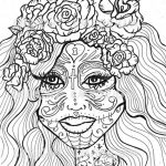 Day of the Dead Coloring Pages - Hard Coloring for Adults - ycv21