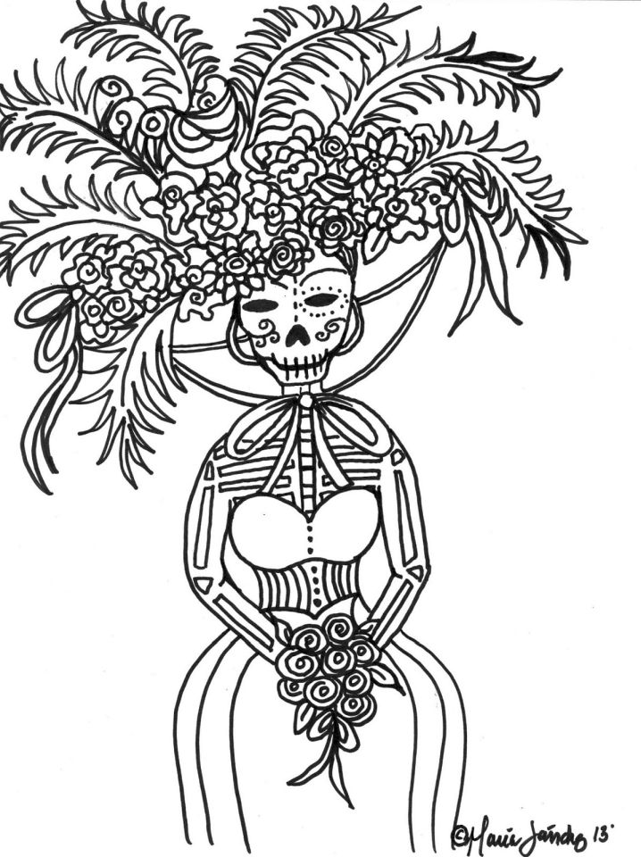Day of the Dead Coloring Pages Online Printable - 9416s