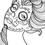 Day of the Dead Coloring Pages Online Printable - cav53