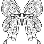 Difficult Butterfly Coloring Pages for Adults - 78367