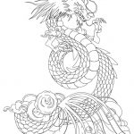 Dragon Coloring Pages for Adults to Print - mv74l