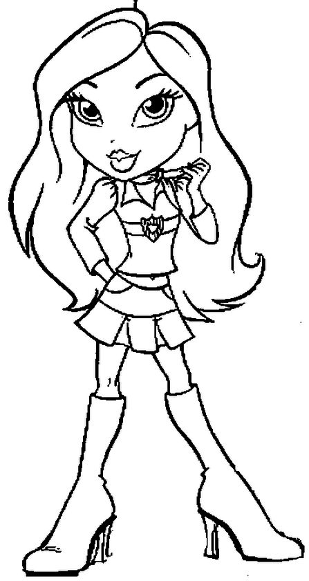 Free Bratz Coloring Pages to Print for Girls - 67sg4