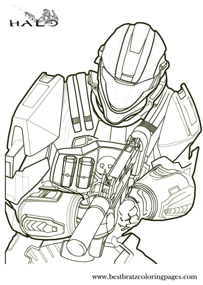 Halo Coloring Pages Printable for Boys - 7fgt5