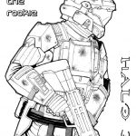 Halo Coloring Pages Printable for Boys - 90678