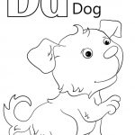 Letter D Coloring Pages Dog - uml61