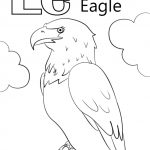 Letter E Coloring Pages Eagle - jdh3m