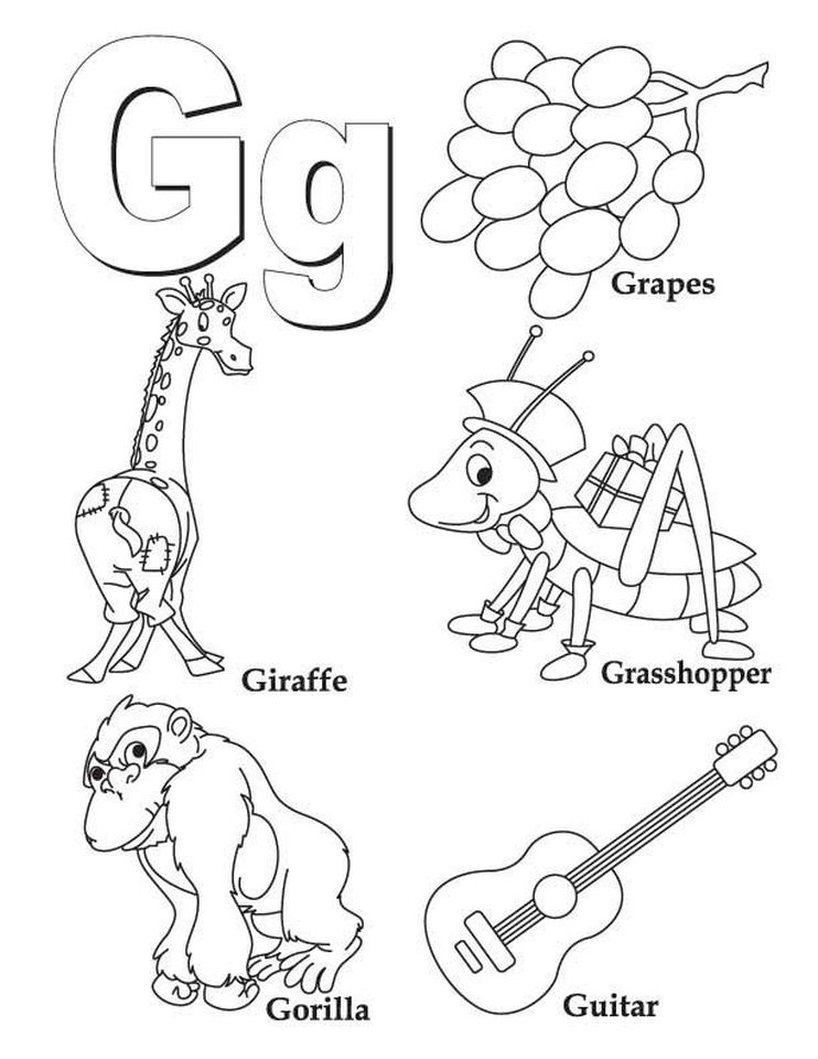 Letter G Coloring Pages - y3bal