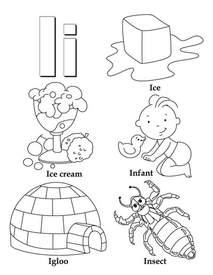 Letter I Coloring Pages - 31bdl