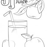 Letter J Coloring Pages Juice - j4nml