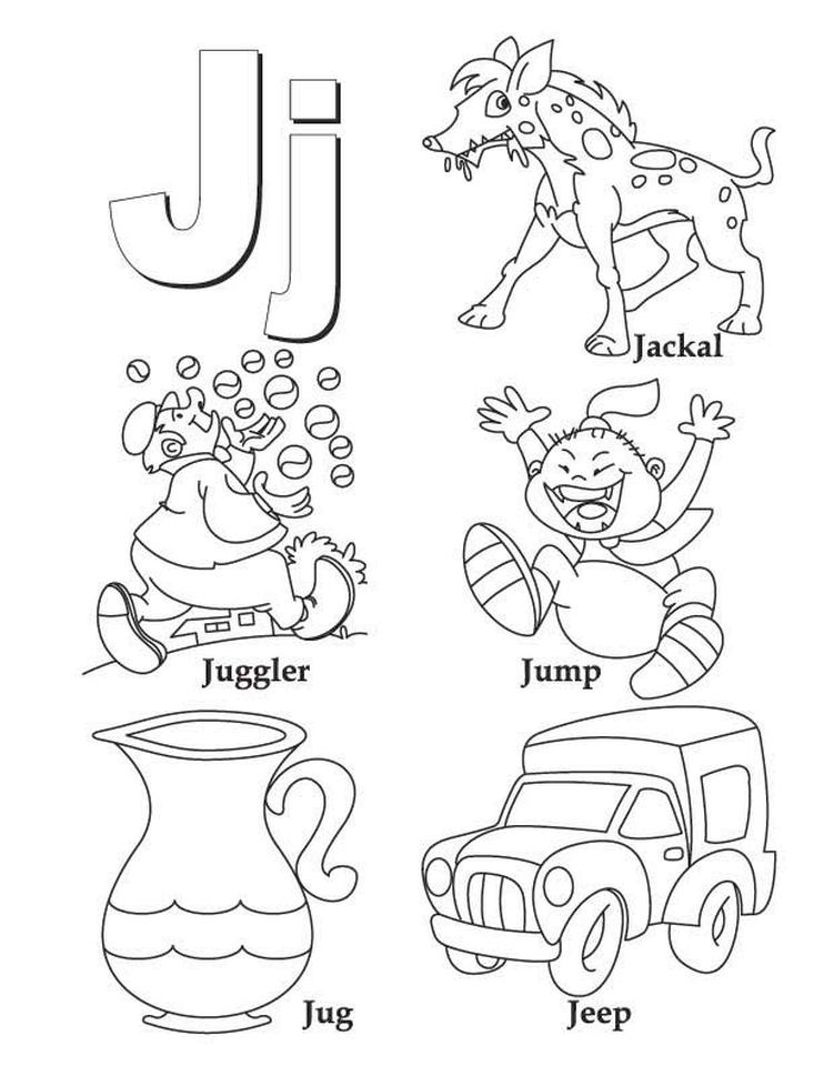 Letter J Coloring Pages - nfl31