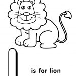 Letter L Coloring Pages Lion - u4l1