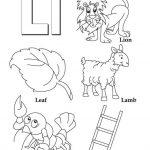 Letter L Coloring Pages - op3l1