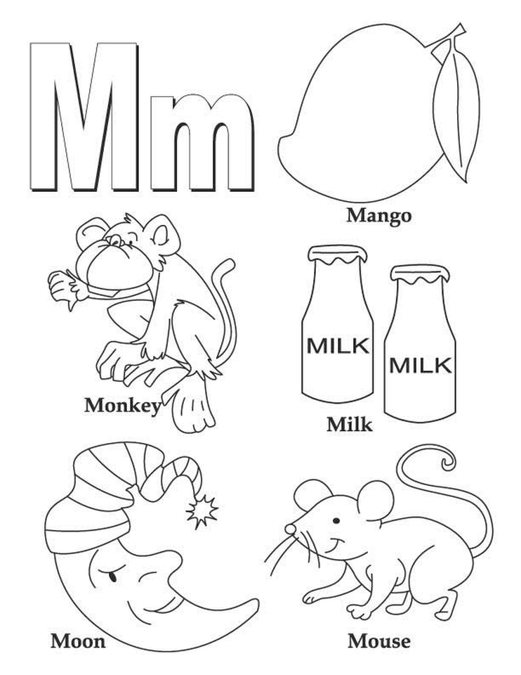 Letter M Coloring Pages - 21y21