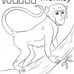 Letter M Coloring Pages monkey - yfg3m