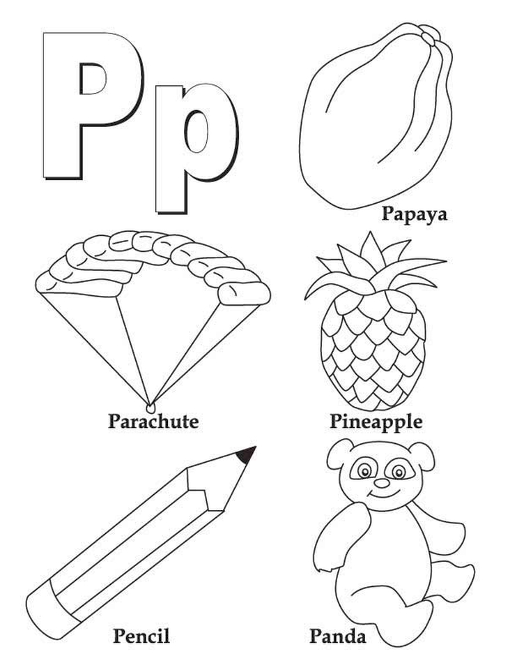 Letter P Coloring Pages - pl4ma