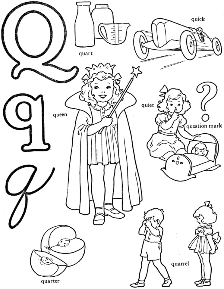 Letter Q Coloring Pages - lrpq4
