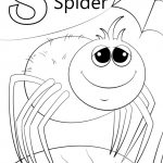 Letter S Coloring Pages Spider - slp4n