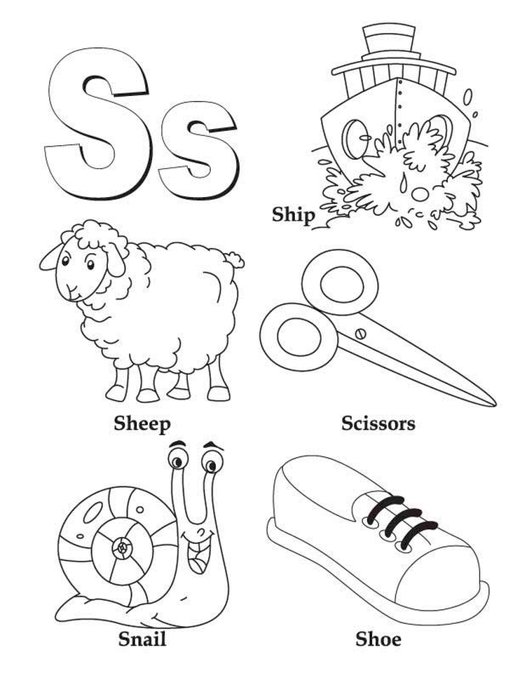 Letter S Coloring Pages - t285l