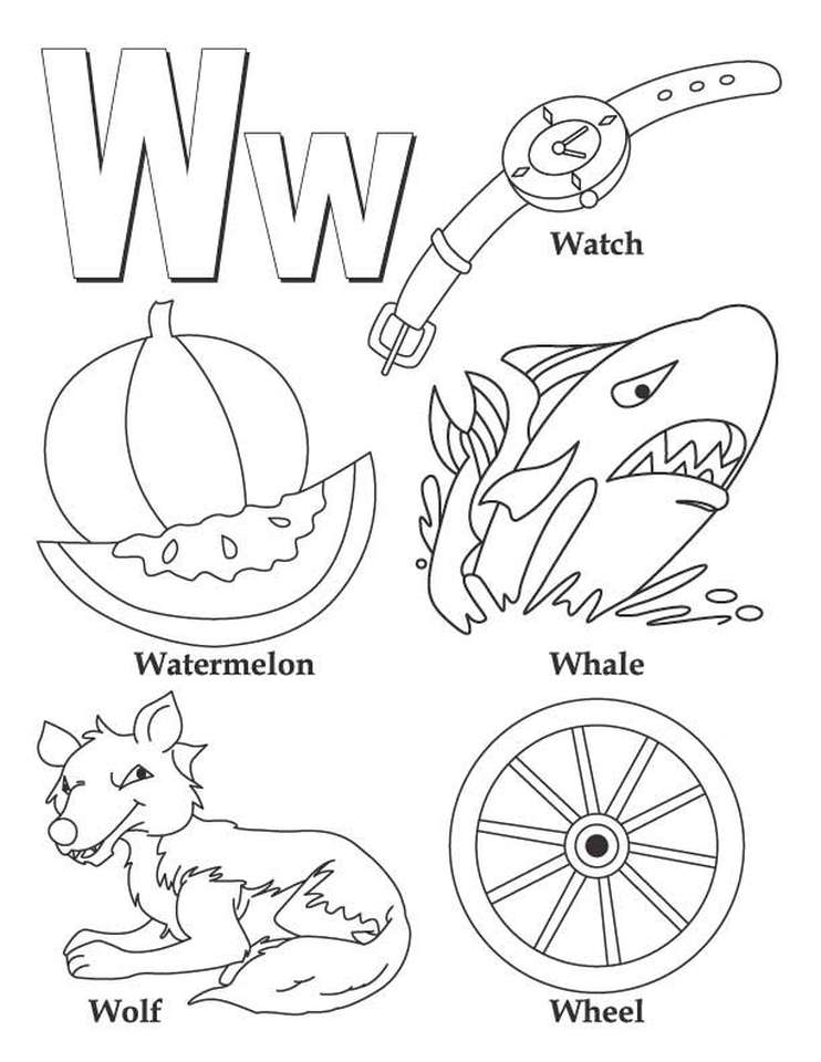 Letter W Coloring Pages - wh495