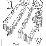 Letter Y Coloring Pages Yard - ywm2
