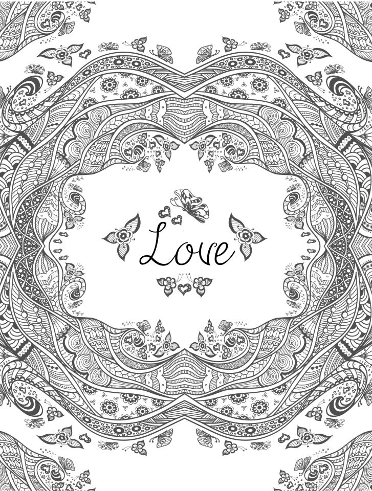 Love Coloring Pages for Adults Printable - 748dm