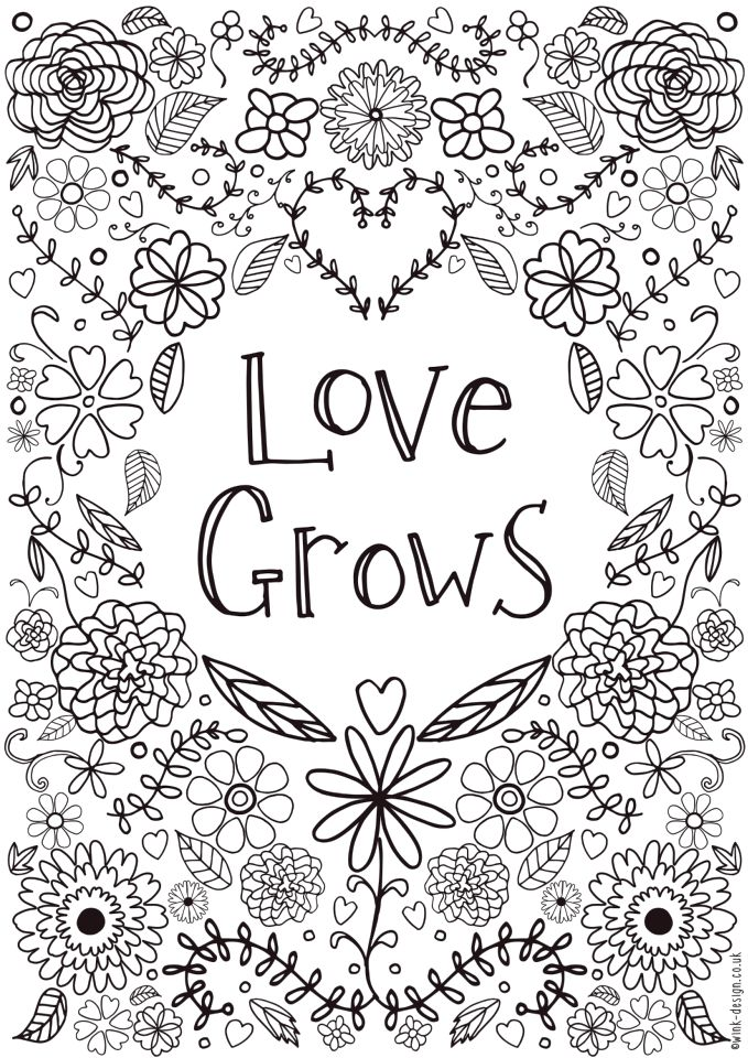 Love Coloring Pages for Adults Printable - 758cb