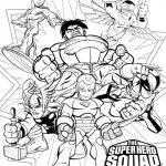 Marvel Coloring Pages Superhero Squad - j3ns0
