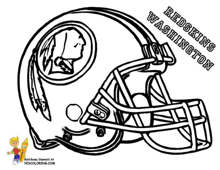 nfl coloring pages for kid - photo#10