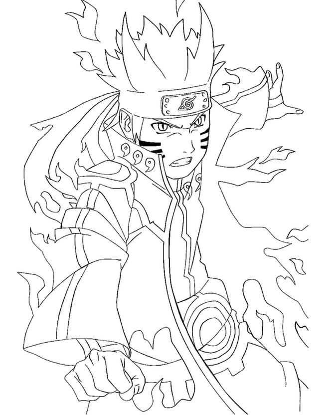 Naruto Coloring Pages Free Printable - 89968